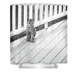 Time Out Bw Shower Curtain