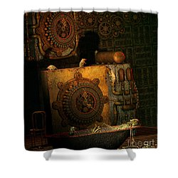 Time Passes Shower Curtain by Jutta Maria Pusl