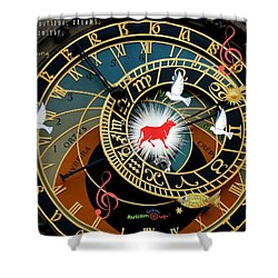 Time Stops Shower Curtain