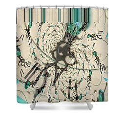 Time Ticking To The New Year Shower Curtain
