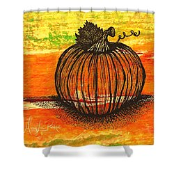 Time To Get Pumkin Shower Curtain