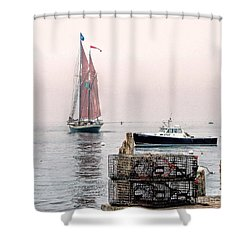 Time To Go Shower Curtain by Christopher Mace