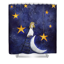 Time To Go To Sleep By Sannel Larson Shower Curtain