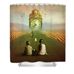 Shower Curtain featuring the digital art Time To Grow Up by Nathan Wright