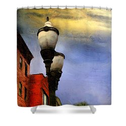 Time To Light The Lamps Shower Curtain by RC deWinter