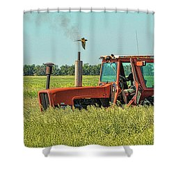 Time To Mow Shower Curtain