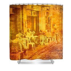 Time To Talk Shower Curtain by Andreas Thust