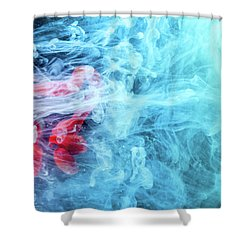 Time Travel - Blue Abstract Photography Shower Curtain