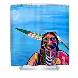 Shower Curtain featuring the painting Beyond Space And Time by Brenda Pressnall