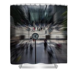 Time Traveller Shower Curtain by Martin Newman