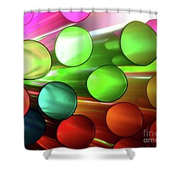 Time Tubes Shower Curtain