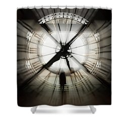 Time Waits For None Shower Curtain