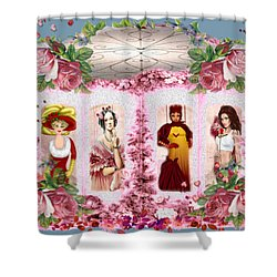 Time Window Shower Curtain