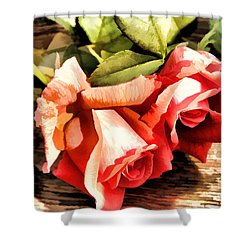Timeless Tropicana Roses Shower Curtain