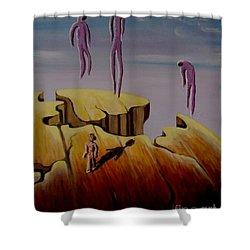 Timeless Shower Curtain by Ushangi Kumelashvili