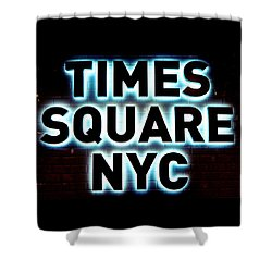 Times Square 4 Shower Curtain by NDM Digital Art