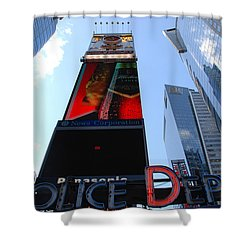 Times Square Cops Shower Curtain by Rob Hans