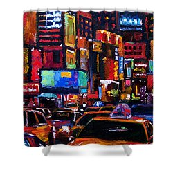 Times Square Shower Curtain by Debra Hurd