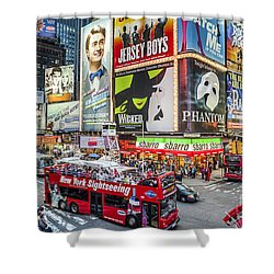 Times Square II Shower Curtain