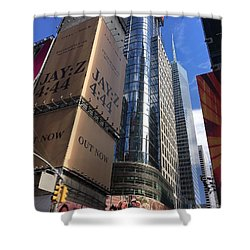 Times Square In Gold Shower Curtain