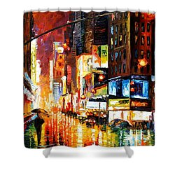 Times Square Shower Curtain by Leonid Afremov
