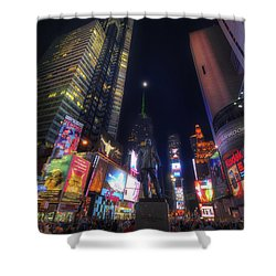 Times Square Moonlight Shower Curtain