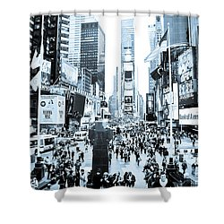 Times Square Shower Curtain by Perry Van Munster