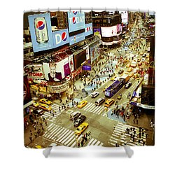 Times Square Traffic Shower Curtain by Perry Van Munster