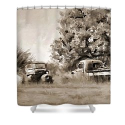 Timeworn Shower Curtain