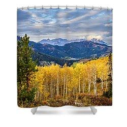 Timp Over Sandy Baker Pass Shower Curtain