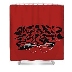 Timpani In Orange Red Shower Curtain