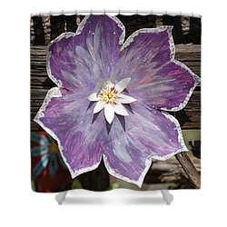 Tin Flower Shower Curtain