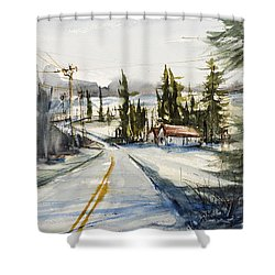Tin Roof Rusted Shower Curtain by Judith Levins
