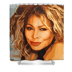 Shower Curtain featuring the digital art Tina by John Keaton