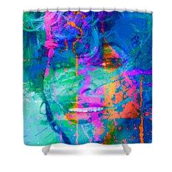 Tina Turner Summer Splash Pop Art Shower Curtain