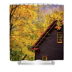 Tingler's Mill In Fall Shower Curtain