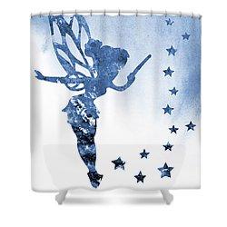 Tinker Bell Blue Shower Curtain