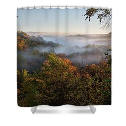 Shower Curtain featuring the photograph Tinkers Creek Gorge Overlook by Dale Kincaid