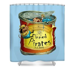 Tinned Pirates Shower Curtain by Andy Catling