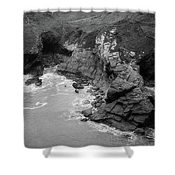 Tintagel Rocks Shower Curtain