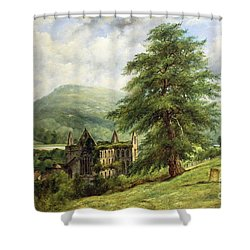 Tintern Abbey  Shower Curtain by Frederick Waters Watts