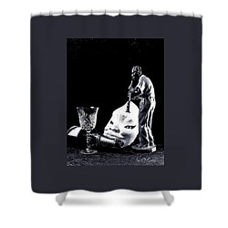 Shower Curtain featuring the photograph Tiny Desk Concert by Elf Evans