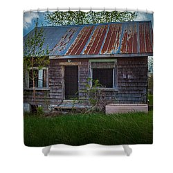 Tiny Farmhouse Shower Curtain
