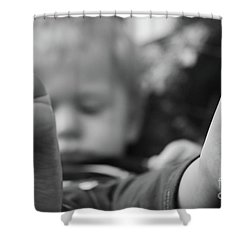 Shower Curtain featuring the photograph Tiny Feet by Robert Meanor