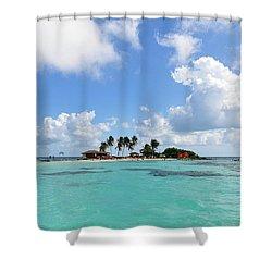 Tiny Island Shower Curtain