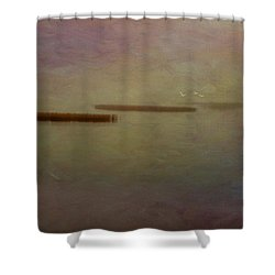 Tiny Islands Shower Curtain by Carolyn Dalessandro