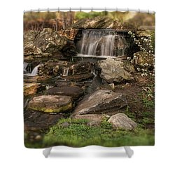 Shower Curtain featuring the photograph Tiny Stream by Angie Tirado
