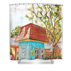 Tiny Tree Boutique In Los Olivos, California Shower Curtain