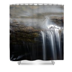 Tiny Waterfall Shower Curtain