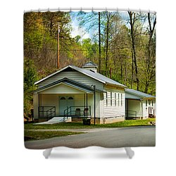 Tip Top Baptist Church Shower Curtain by Lena Auxier